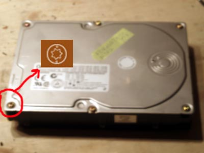 Picture of OLD HARD DISK AS a SOLDERING BASE