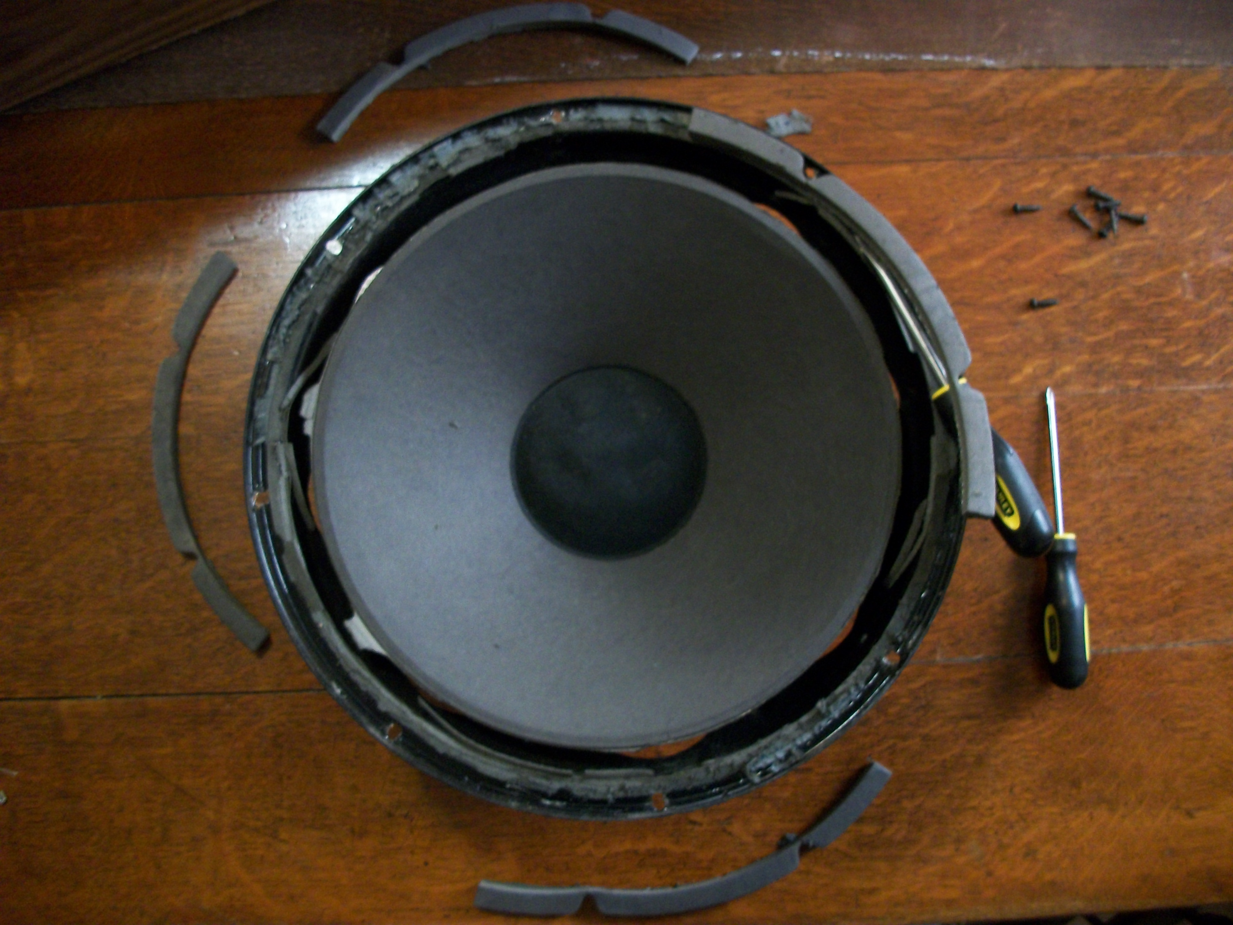 Picture of Re-foaming the Woofer