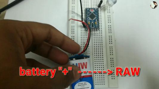 Connect 9v Battery