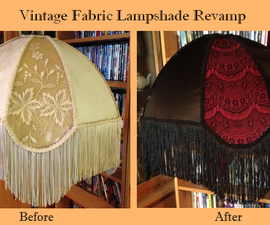 Vintage Fabric Lamp Shade Revamp