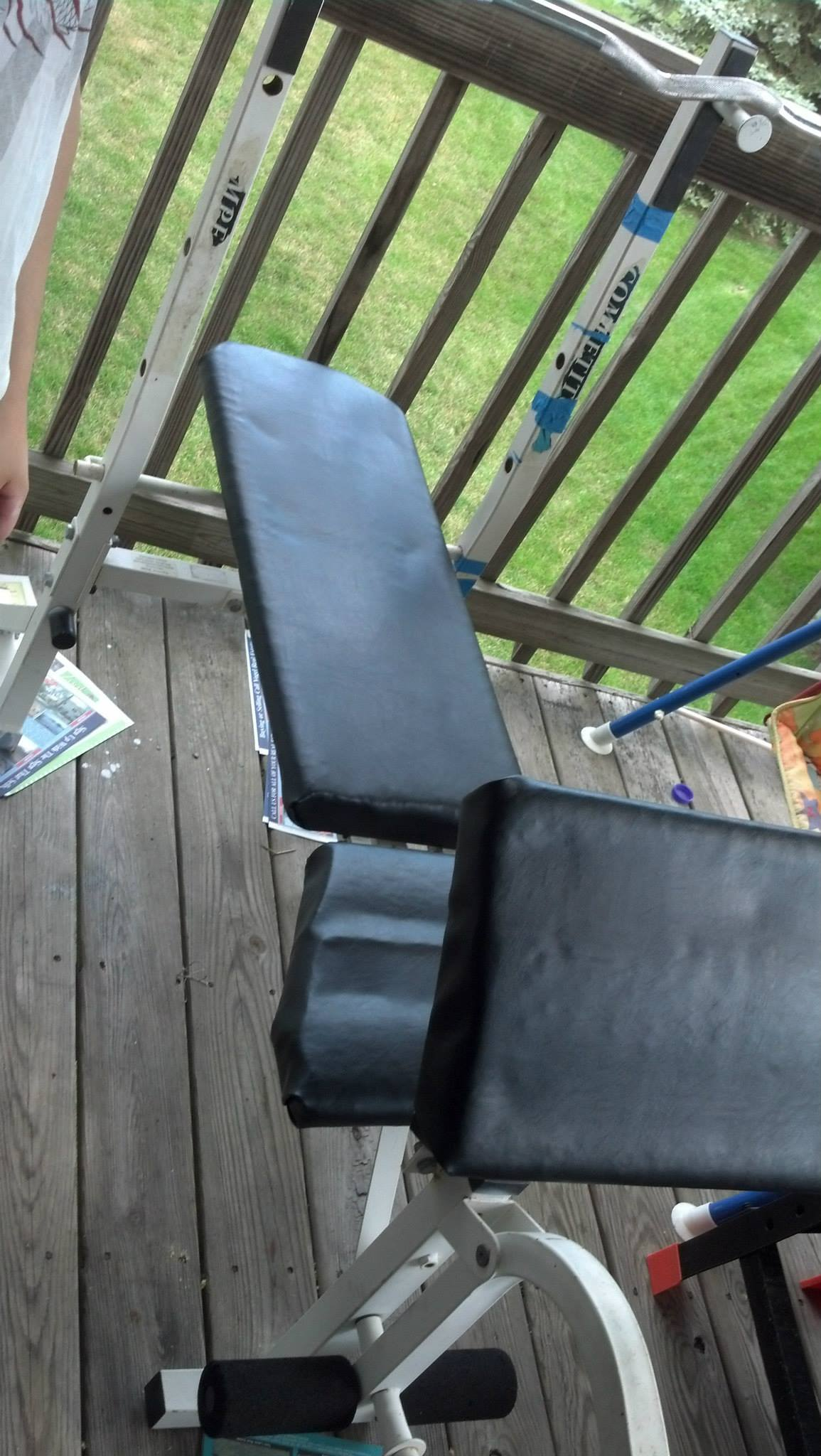Picture of Replace Dry-Rotted Wood on a Weight Bench