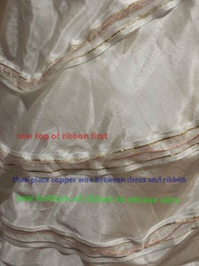 Sew the Wire Onto the Dress
