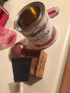 Applying Lacquer