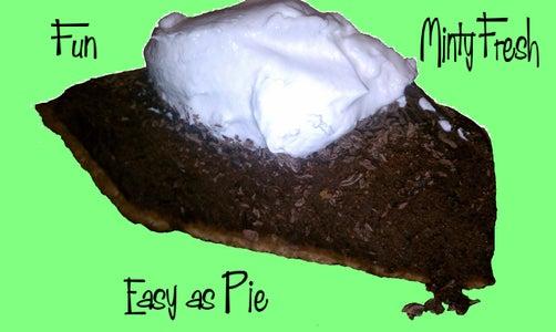 Minty Cocoa Bean Pie