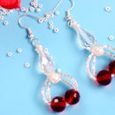 Beebeecraft Tutorials on Making Red Crystal Earrings