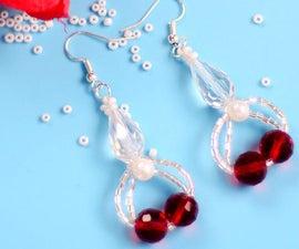 Beebeecraft Tutorials on Making Red Crystal Earrings
