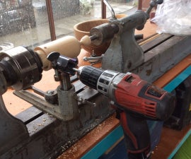 Wood Lathe Drilling Jig