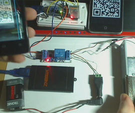 Android Automatic Open Electric Door With QR Code Scan