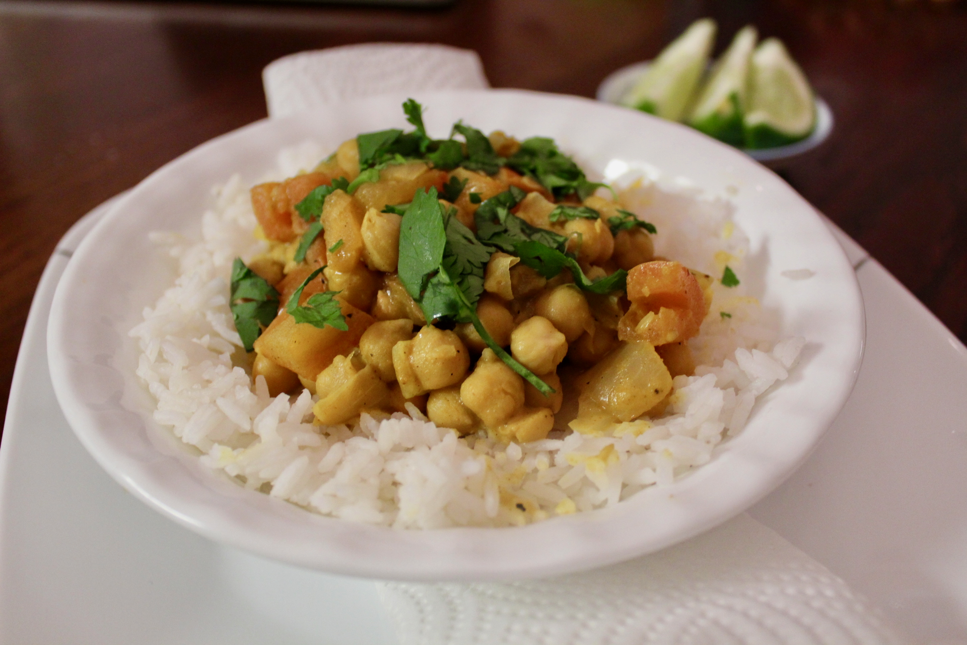 Picture of Creamy Coconut Chickpea Curry (Vegan and Gluten Free)