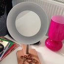 IKEA HACK: $14 Illuminated Ceramic Bowl Cosmetic Mirror