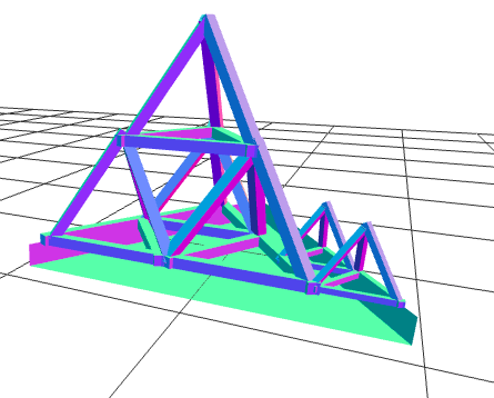 Picture of Apply One Half Scaling to Wood Tetrahedron
