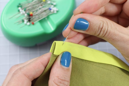 Pin the Binding to the Side Seams