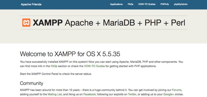 Picture of Installing XAMPP and Setting Up Web Interface
