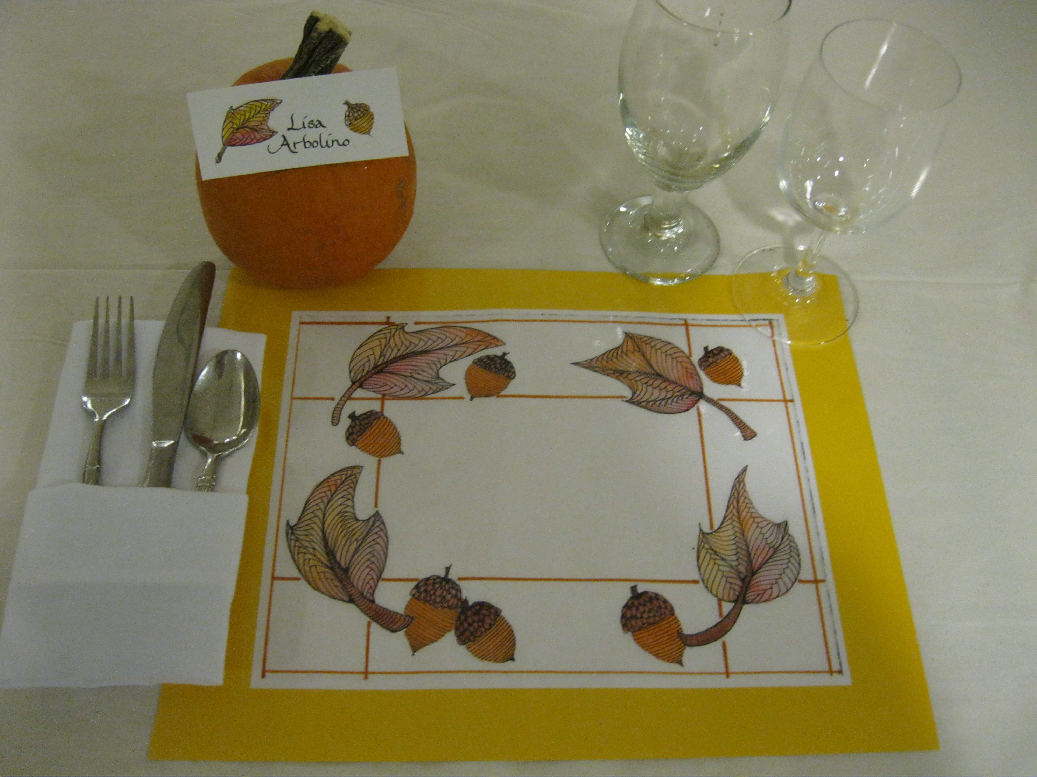 Picture of Thanksgiving Feast Placemat