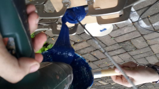 Pouring and Casting the Melted Plastic