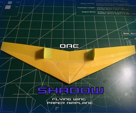 How to Make the Shadow Paper Airplane