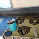 Spray Painted Counter Top