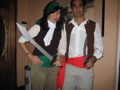 Guybrush Threepwood and Elaine Marley Pirate Costumes (Monkey Island)