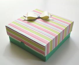 How to make a Gift Box for Valentine's Day - DIY Paper Crafts