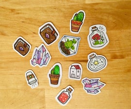 Comment Faire Des Autocollants (Simple Et Facile!) / How to Make Your Own Stickers (Simple and Easy!)