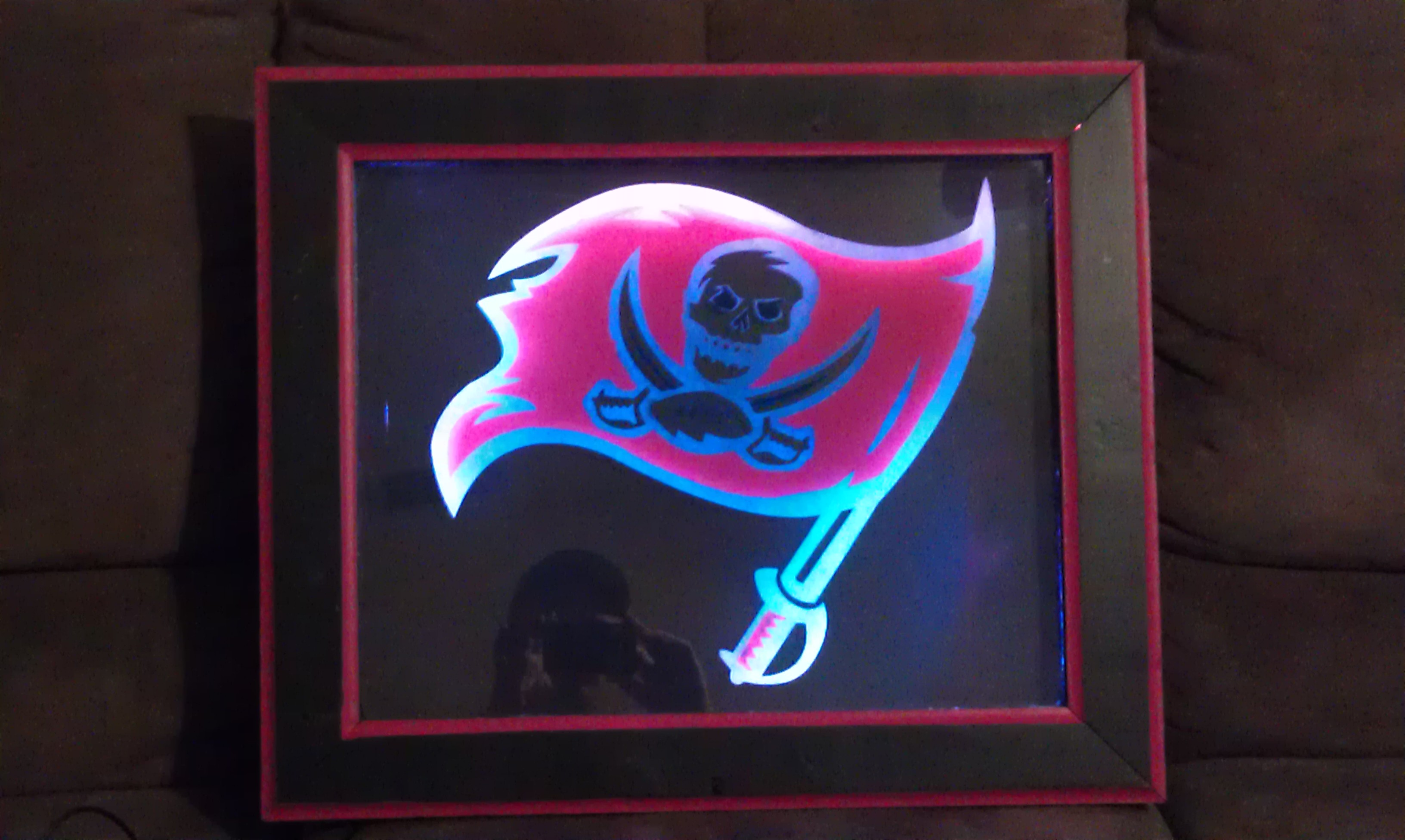 Picture of Etched Glass With Light Up Frame