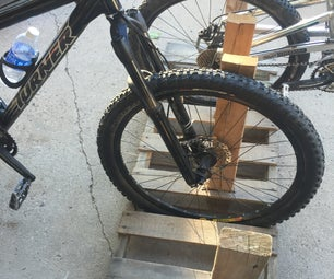 How to Make a Simple Bike Rack From a Pallet