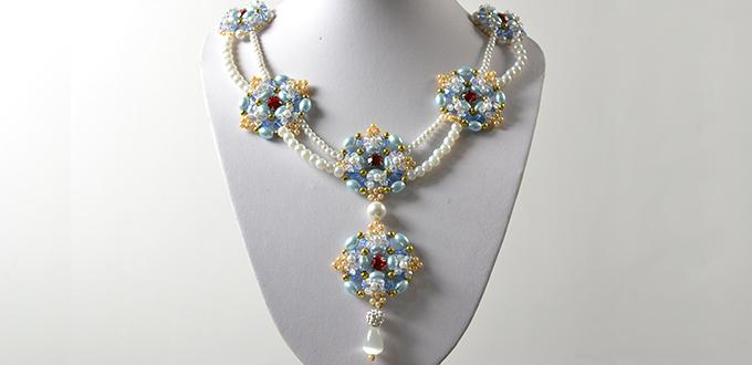 Picture of How to Make Double Strands Pearl Beads Pendant Necklace for Wedding