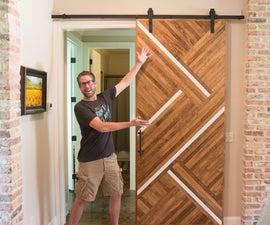 Sliding Barn Door With a Modern Twist