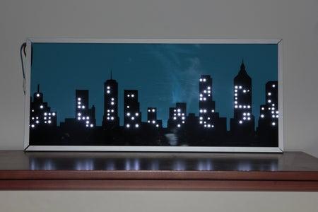 Night City Skyline LED Wall Lamp