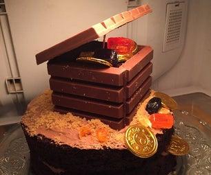 Kit-Kat Chest Cake