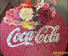 Make A Coca Cola Mosaic Table