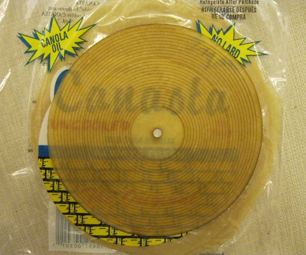 Make a Working Playable Tortilla Record With a Laser Cutter