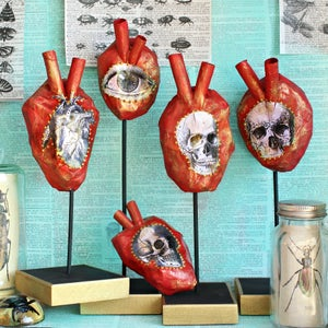 Paper Mâchê Anatomical Hearts