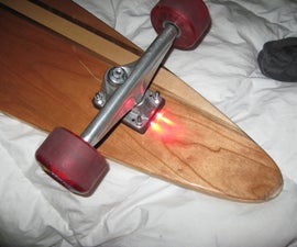 DIY skateboard longboard riser lights angled riser