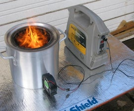 Large portable wood gasifier stove
