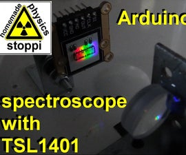 Arduino Spectroscope With TSL1401 and Display