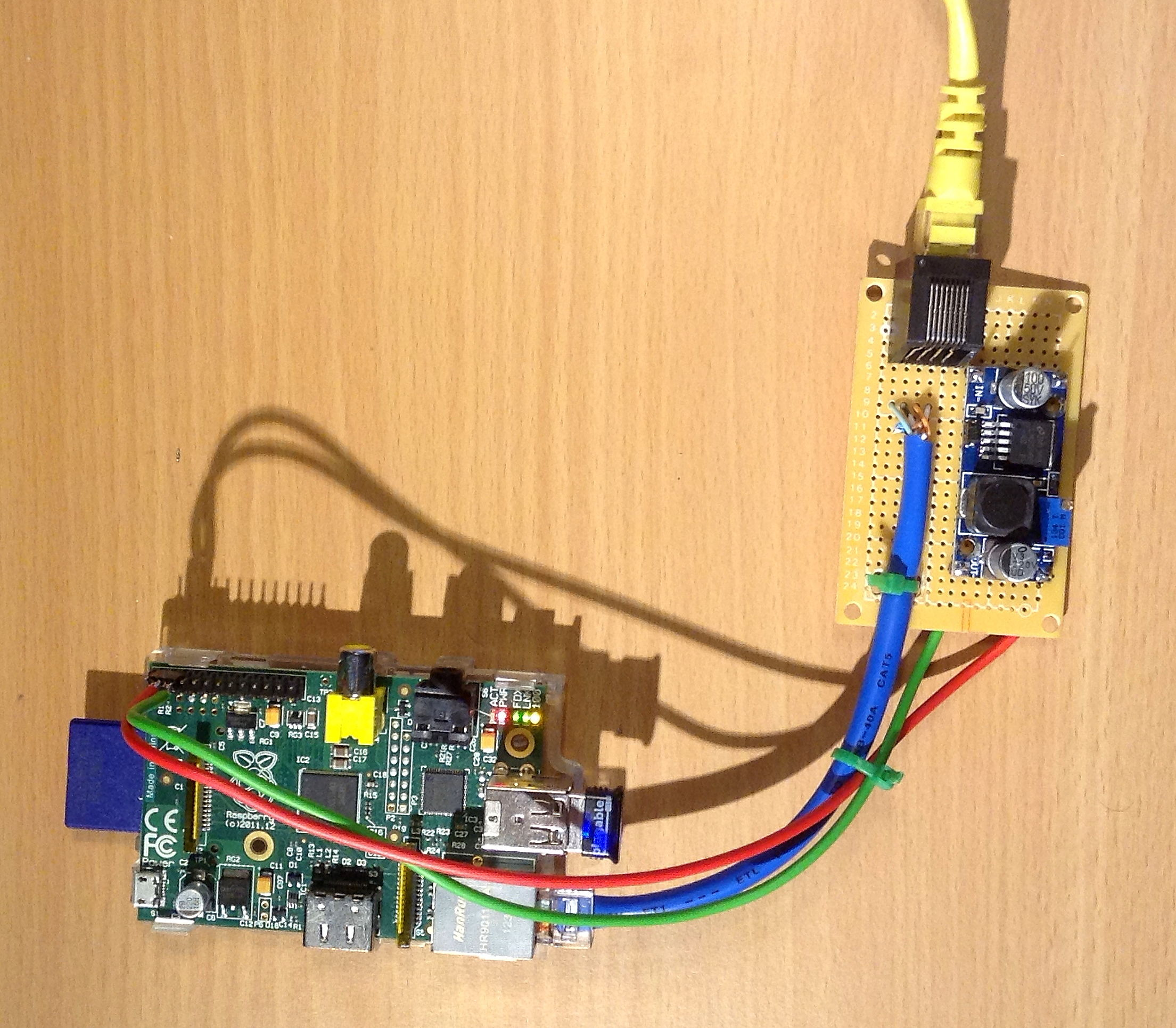 Picture of PiPoE - Powering a Raspberry Pi Over Ethernet