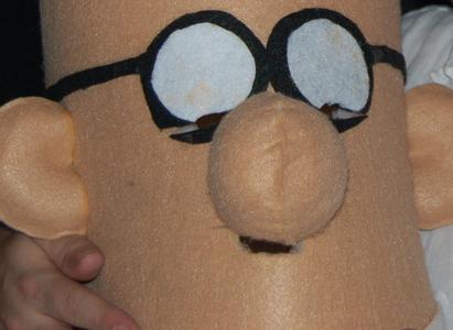 Easy Dilbert Costume - Just Glue, Foam & Felt