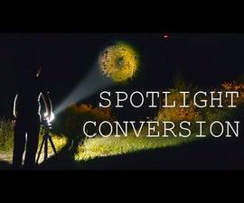 Turn a Flashlight Beam into a Far Reaching Spotlight
