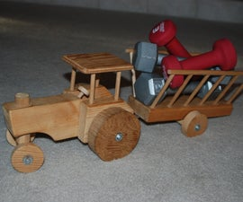 Indestructable Wooden Tractor Toy