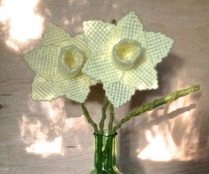 Plastic Canvas Yarn Daffodils