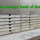 Shop storage: bank of drawers