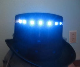 Rotating LED Marquee Hat