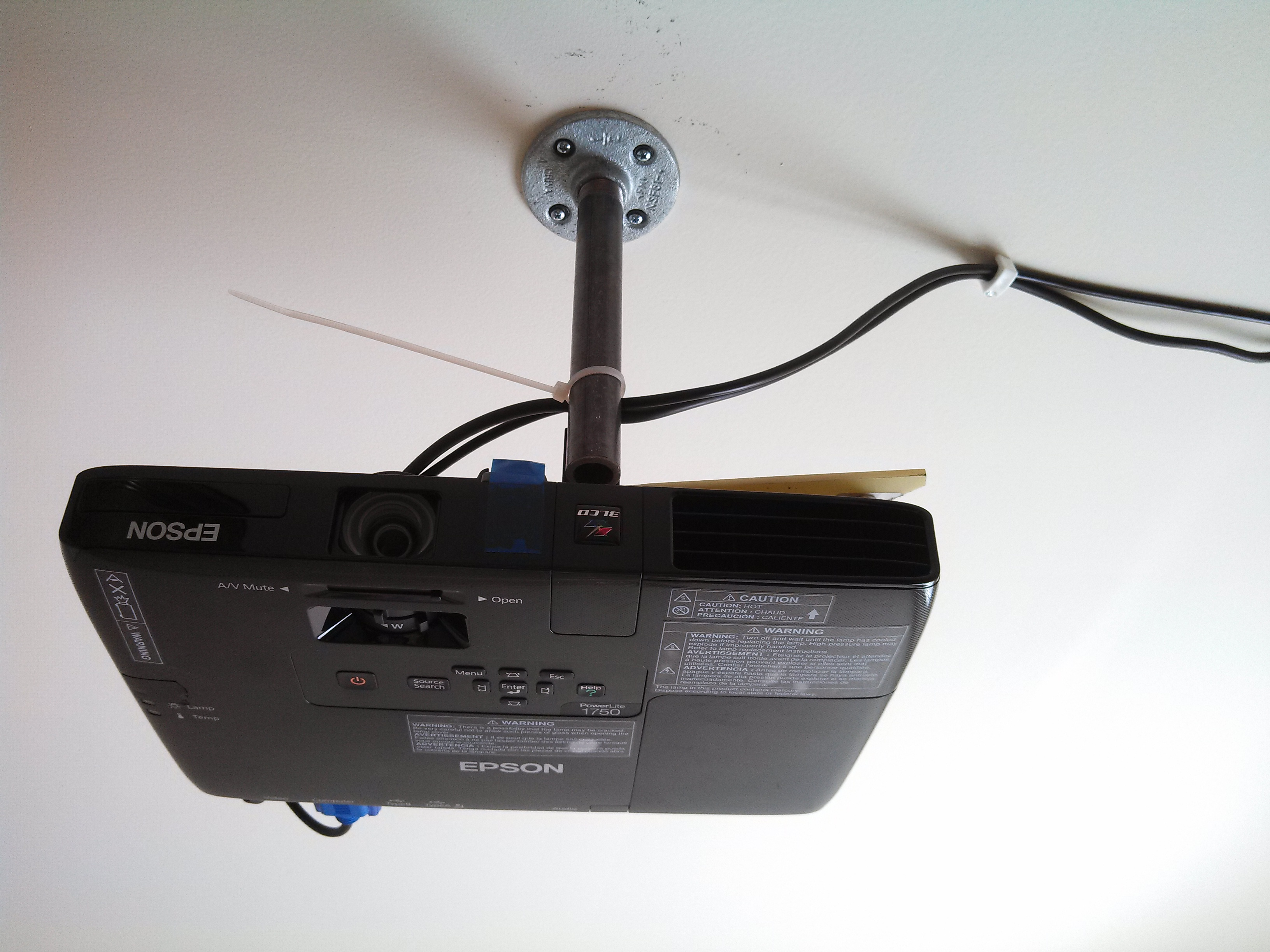 DIY Low Cost Porjector Ceiling Mount (with Pictures)