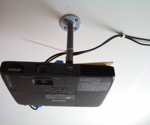 DIY Low Cost Porjector Ceiling Mount