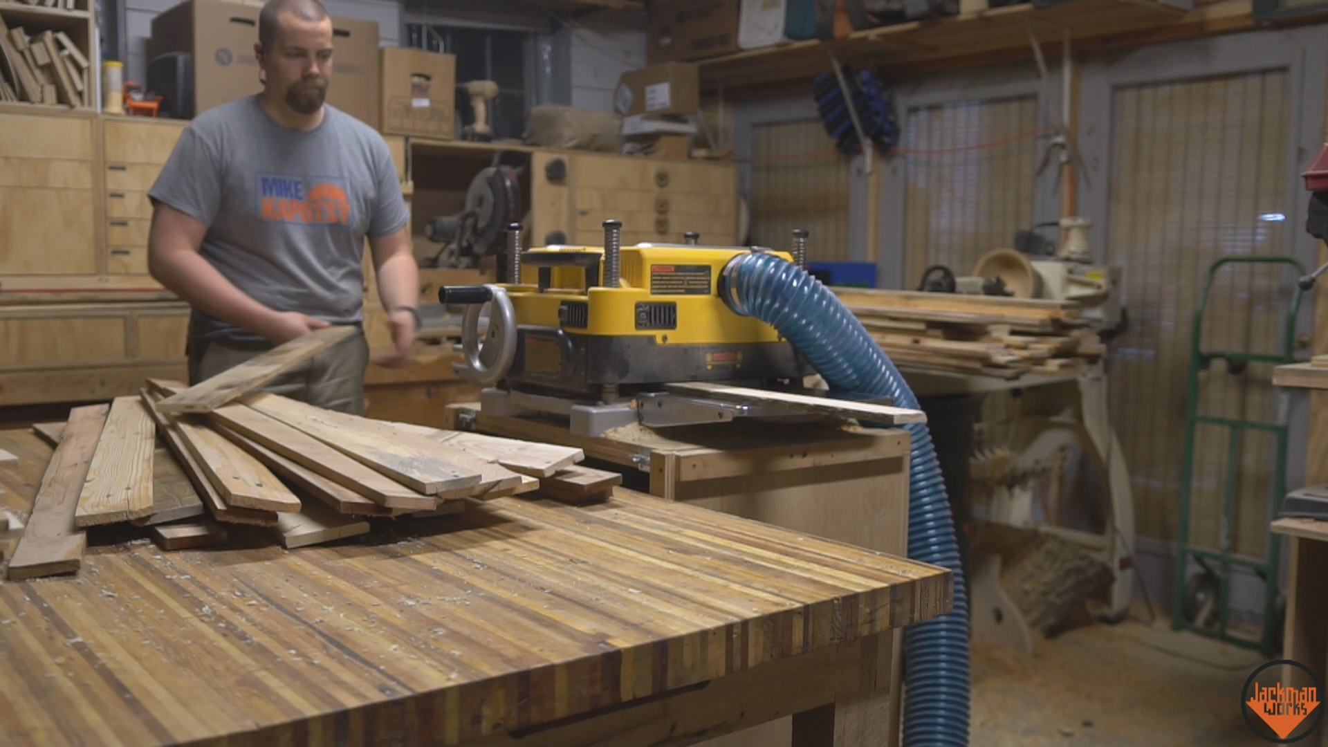 Picture of Milling Down the Pallet Wood