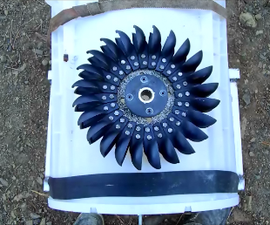 How to make a water powered pelton wheel generator from an old washing machine