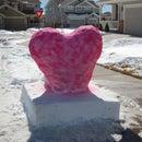 Snow Heart on a Pedestal