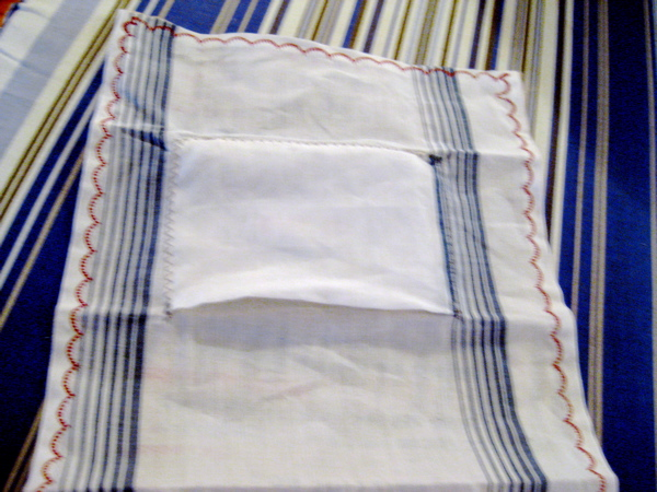 Picture of Fold Entire Hankie Into the Small Pocket