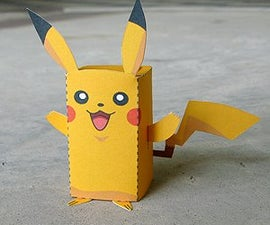 Paper Craft Pikachu Box Figure (Finger Puppet Pokemon)!